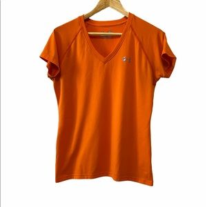NWOT UNDER ARMOUR Orange Semi Fitted Tee Shirt M
